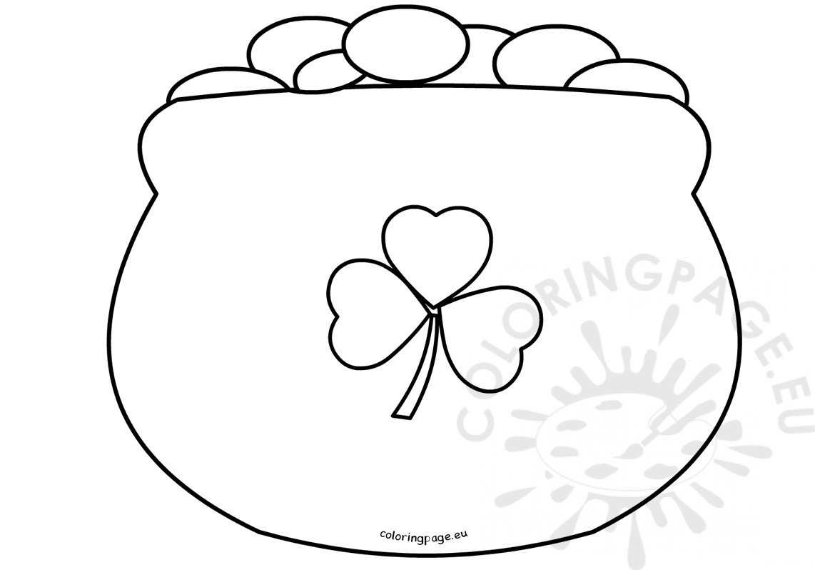 This is a picture of Universal Pot of Gold Template Free Printable