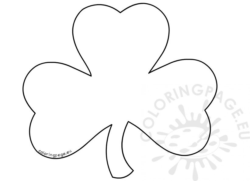 St PatrickS Day Coloring Pages For Adults Large Shamrock  Coloring