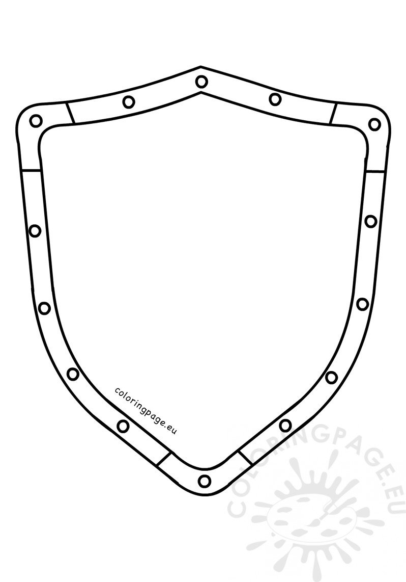 Metal shield template | Coloring Page
