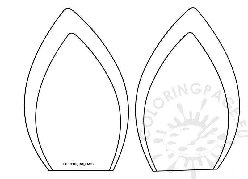 photograph regarding Unicorn Horn Template Printable referred to as Unicorn ears template little one craft Coloring Web page