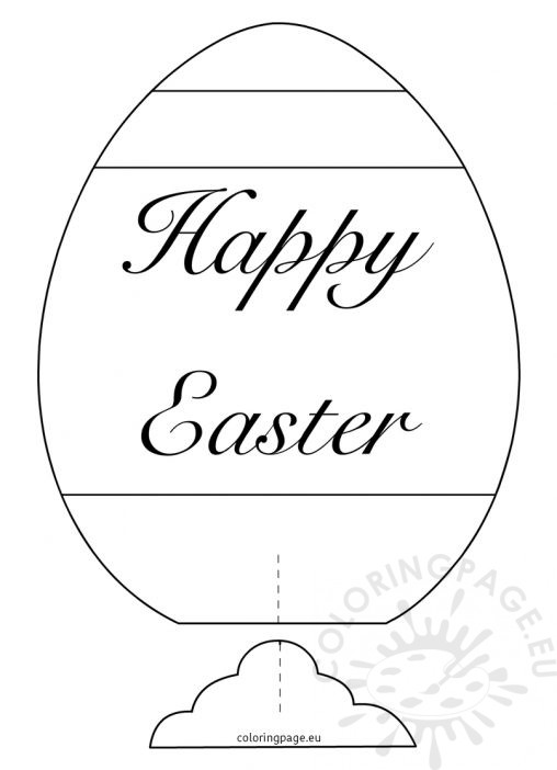 happy easter egg coloring pages - coloring page