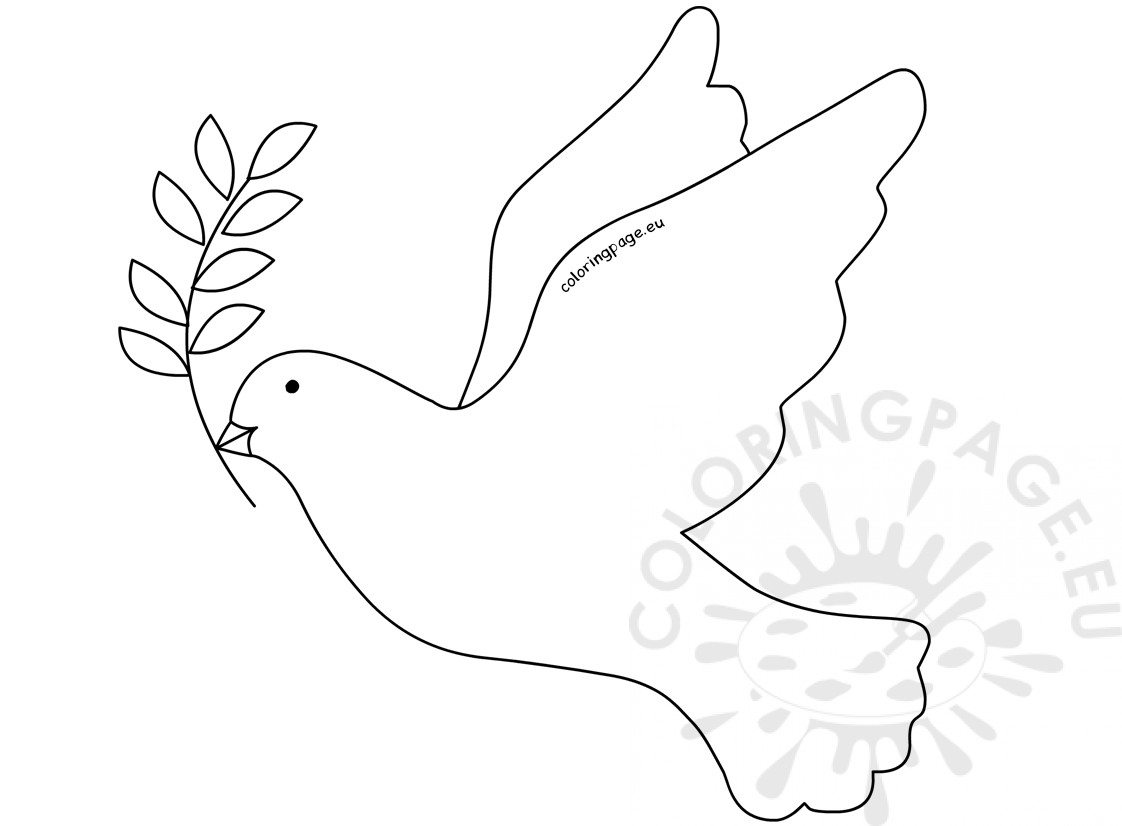 Dove with Olive Branch template