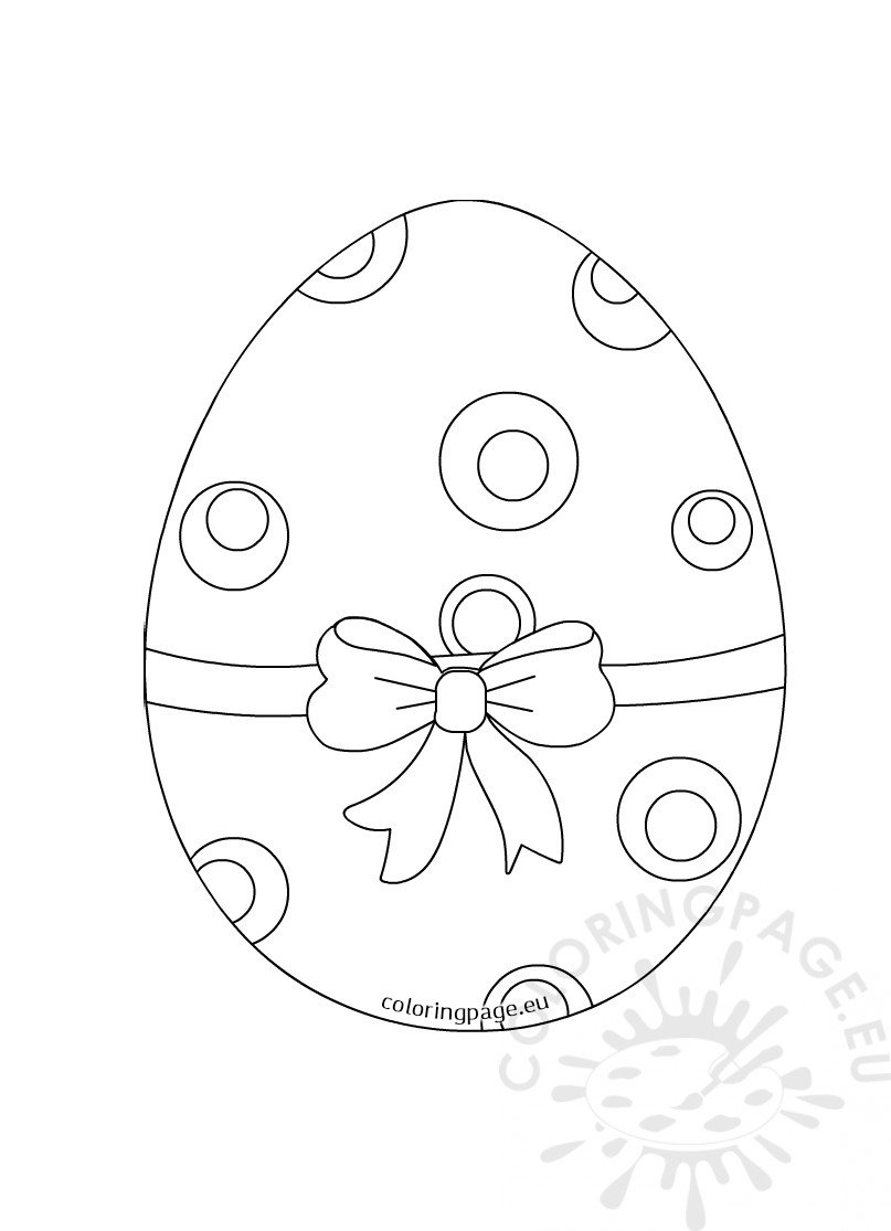 Printable Easter Egg with Bow