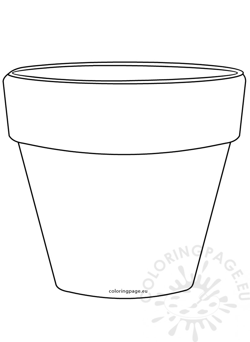 photo regarding Flower Pot Template Printable named Printable Flower Pot Form picture Coloring Webpage