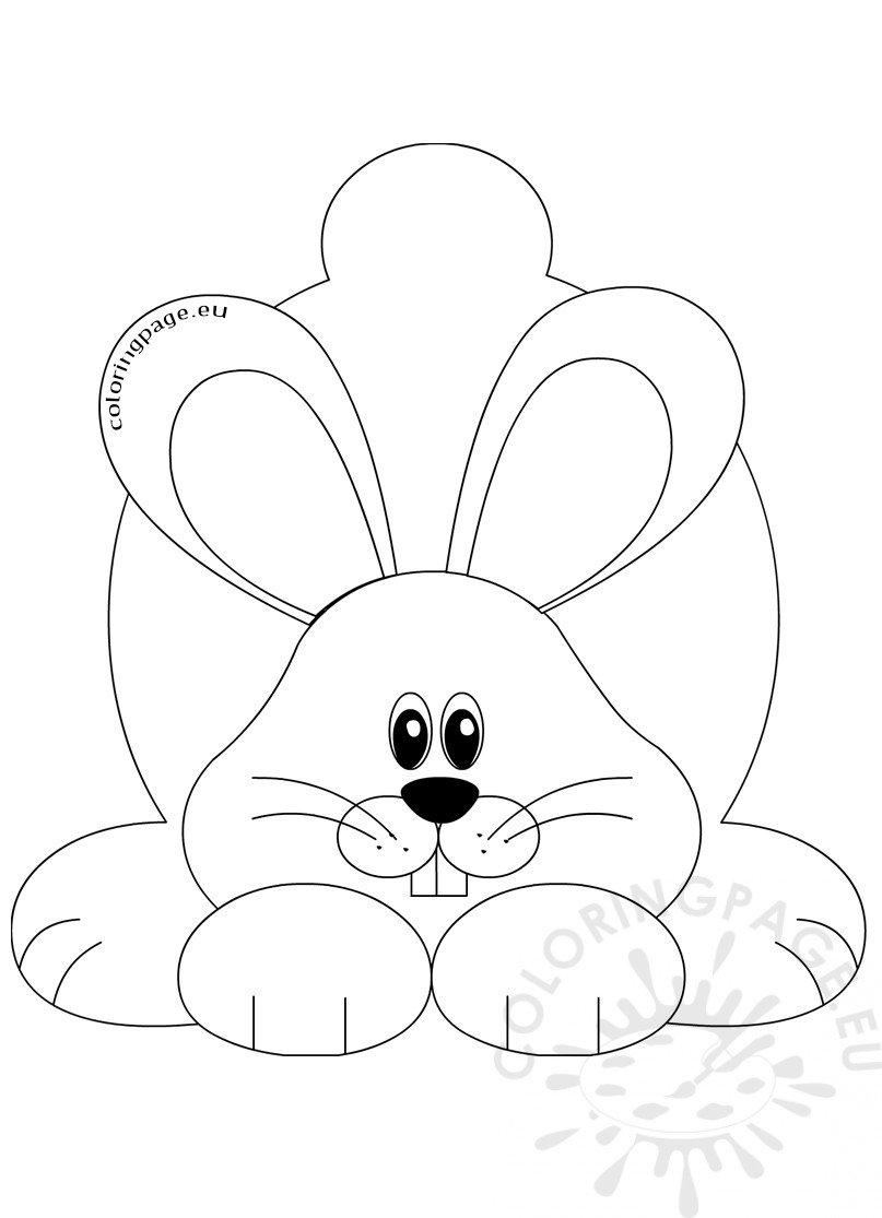 Cute rabbit coloring sheet | Coloring Page