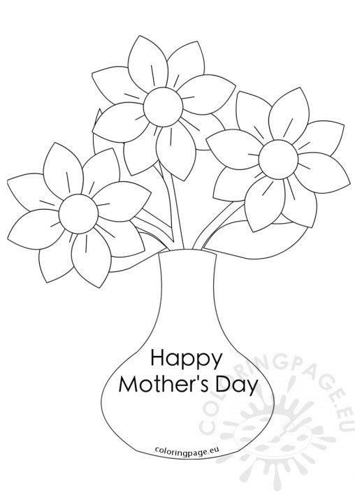 mother 39 s day coloring page. Black Bedroom Furniture Sets. Home Design Ideas