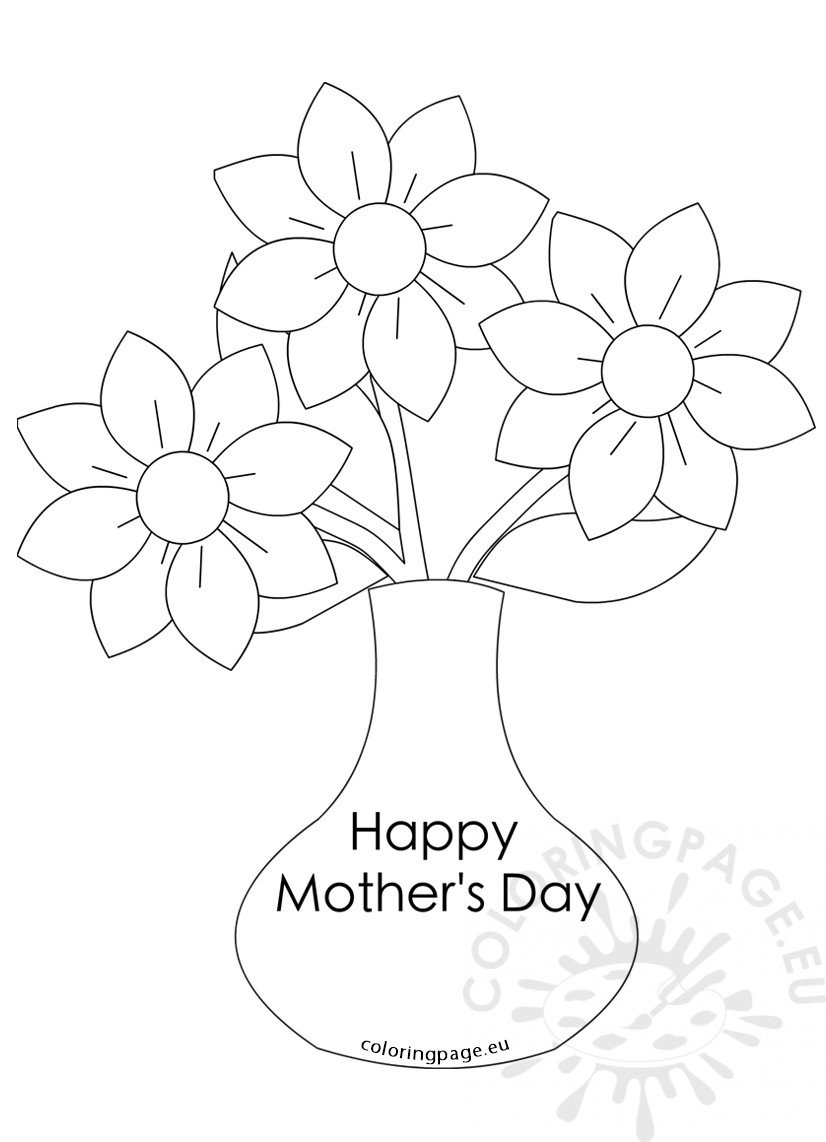 Mother s Day flowers Vase with