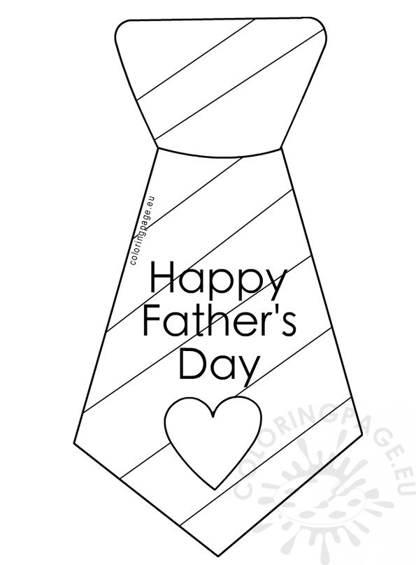 Father S Day Coloring Page Tie With Stripes Coloring Page