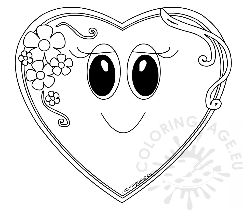 Mother S Day Coloring Page Cute Heart Coloring Page
