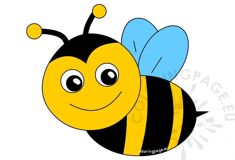 Happy Bee Cartoon ClipArt
