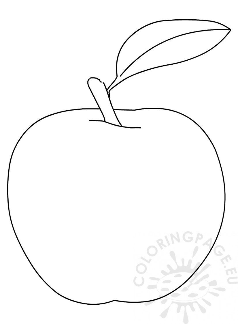 Apple fruit with leave vector image
