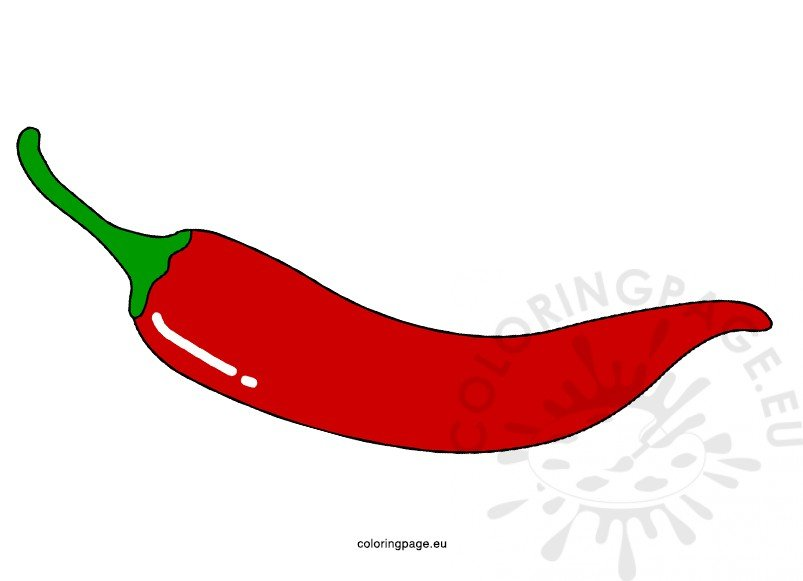 Chilli Pepper coloring page | Free Printable Coloring Pages | 581x803