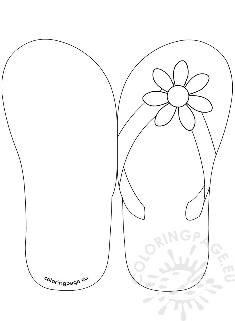amazing flip flop coloring pages - 28 images - summer 8211 flip ...