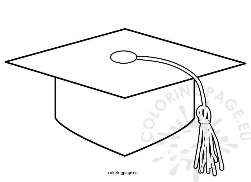 image about Printable Graduation Cap Pattern named Printable Commencement Cap practice Coloring Site
