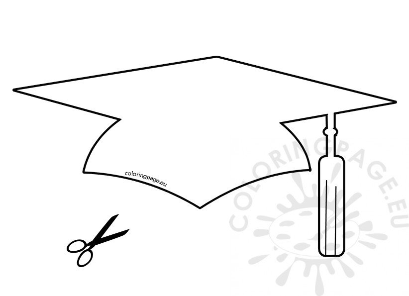 picture regarding Printable Graduation Cap Pattern named Paper Commencement Hat Template Coloring Website page