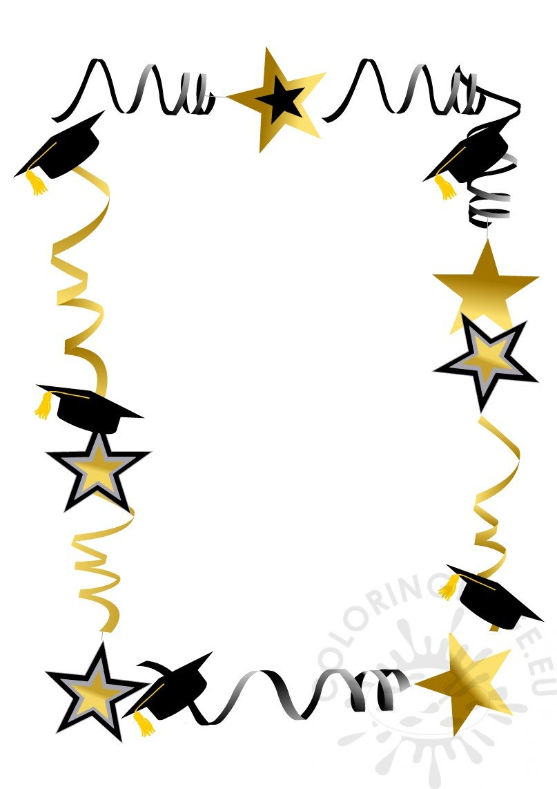 Colored Graduation Caps Frame