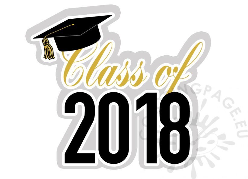 Graduation Class of 2018 clipart