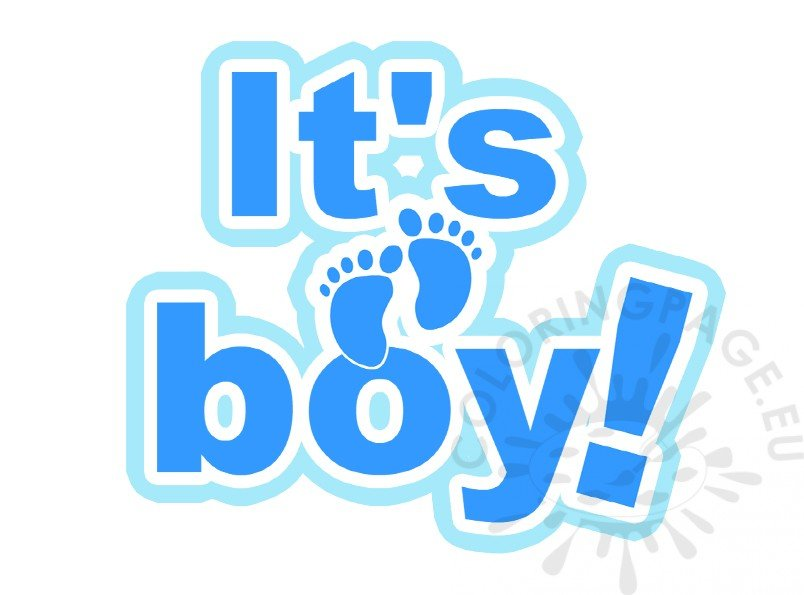 Its A Boy Lettering Baby Shower