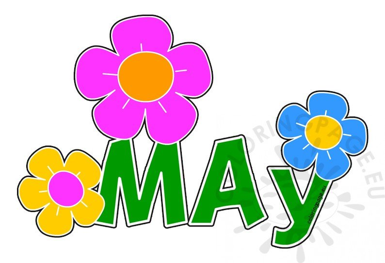 Clip Art Month Of May
