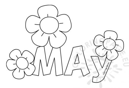 may coloring pages to print   Spring - Coloring Page