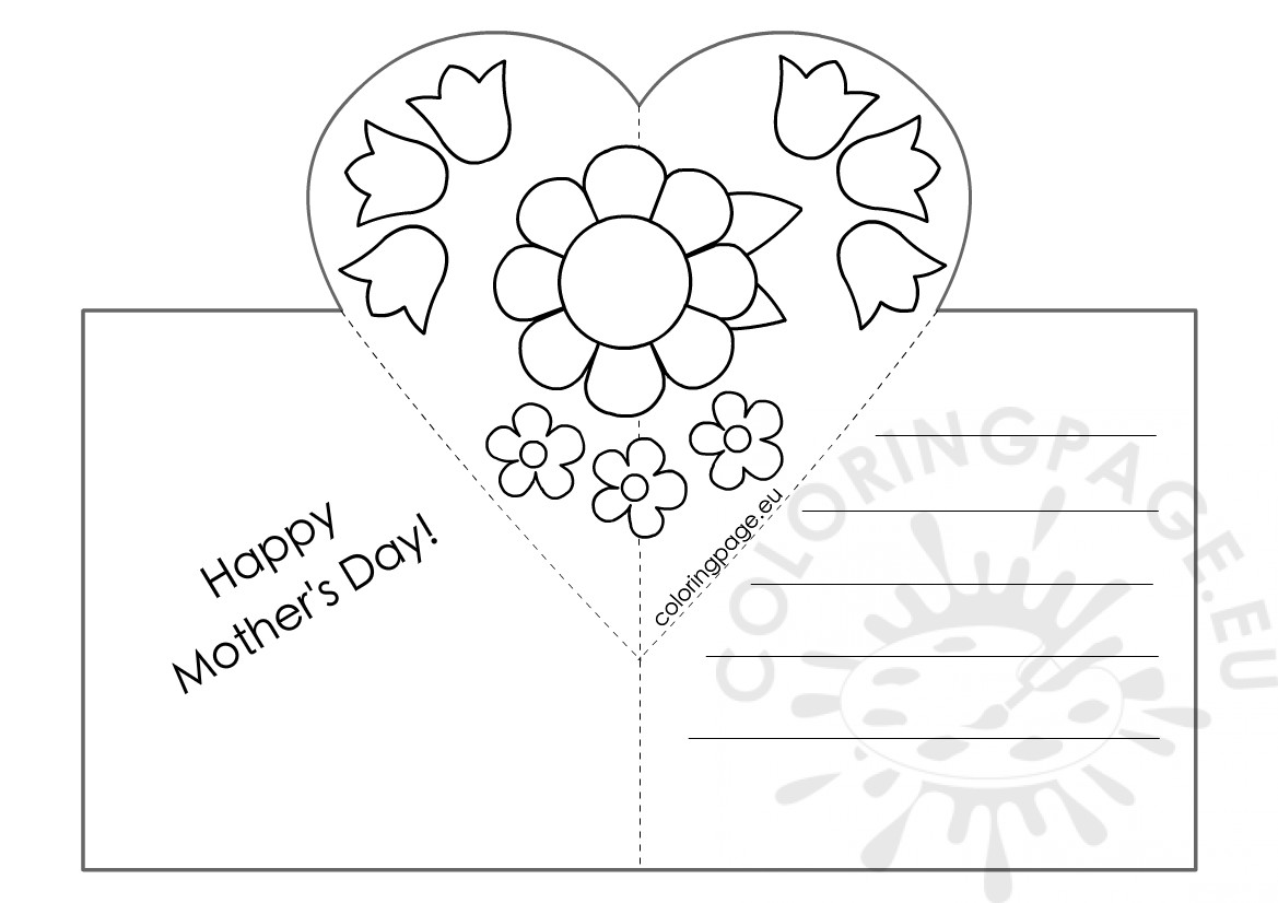 Mothers day card with heart pop up template coloring page mothers day card with heart pop up template maxwellsz