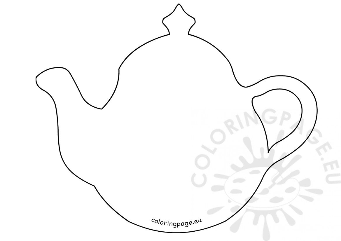 teapot craft shape printable coloring page. Black Bedroom Furniture Sets. Home Design Ideas