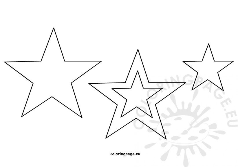This is a picture of Printable Star Pattern with regard to full page