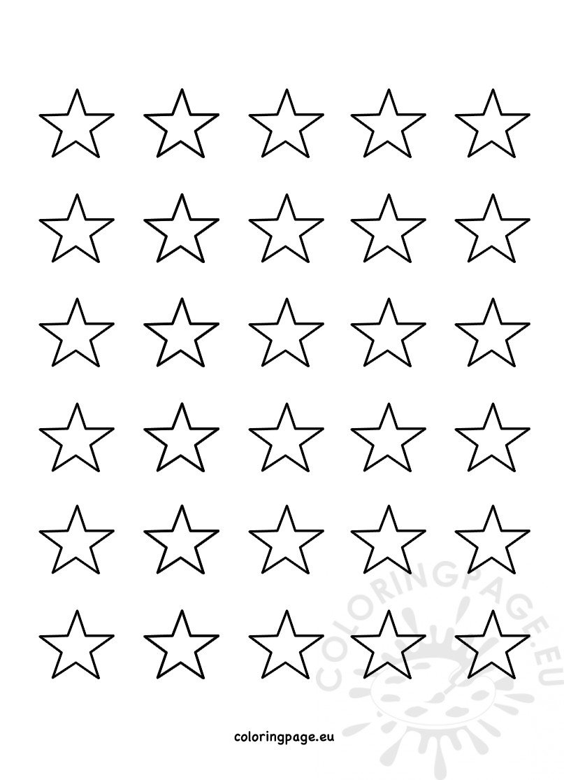 printable small stars template coloring page