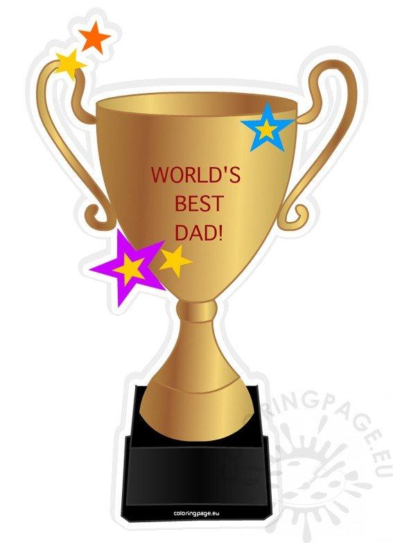 Worlds Best Dad Trophy clipart