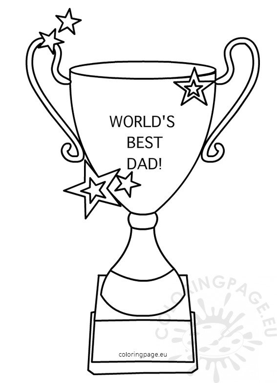 Worlds Best Dad Trophy Shape