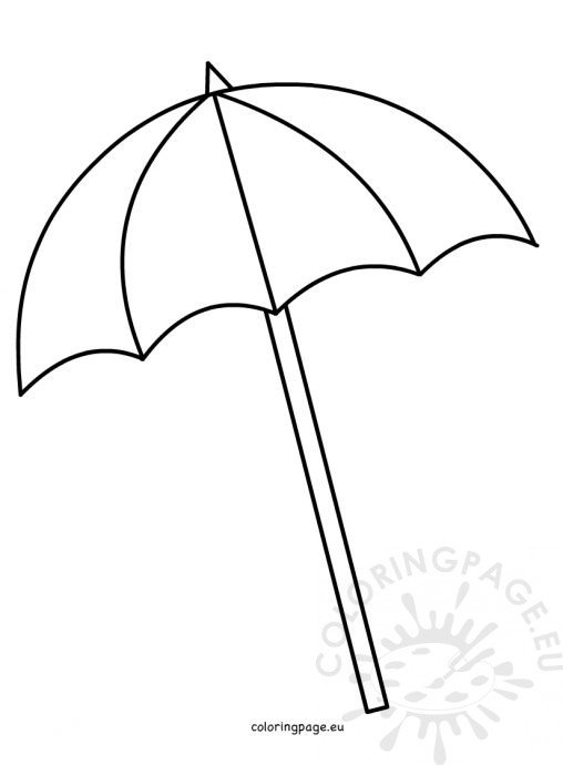 beach umbrella coloring pages - photo#11