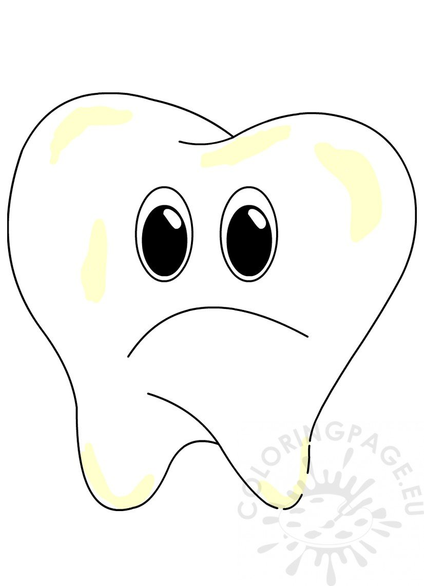 Cartoon Sad Tooth image