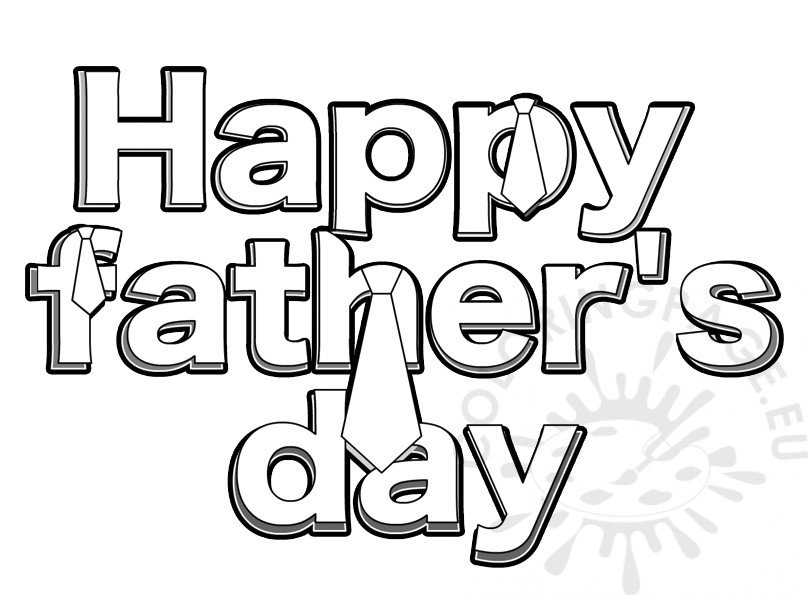 Print Happy Father's Day Words