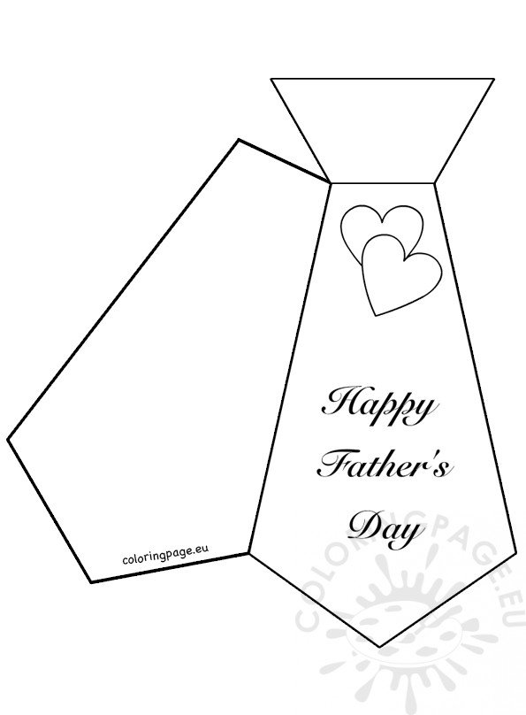 Wild image in father's day tie template printable
