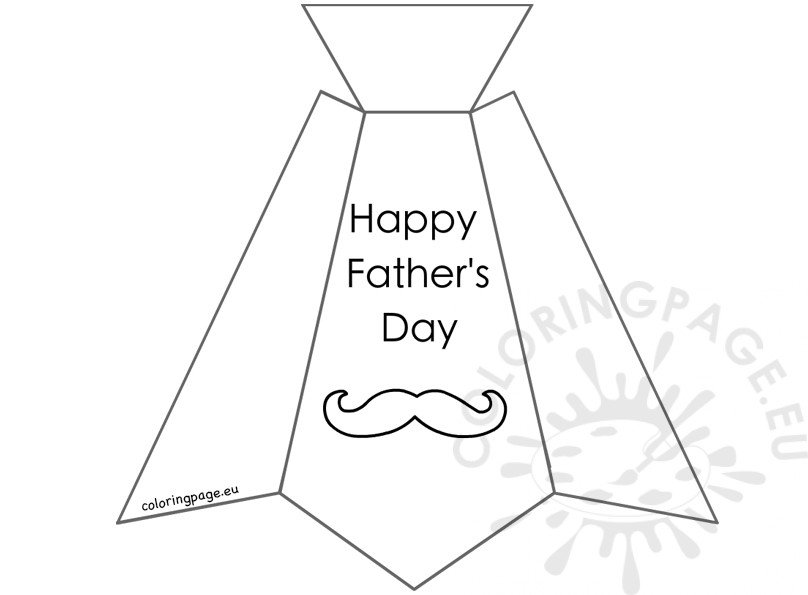 Necktie Father S Day Card Coloring Page Coloring Page