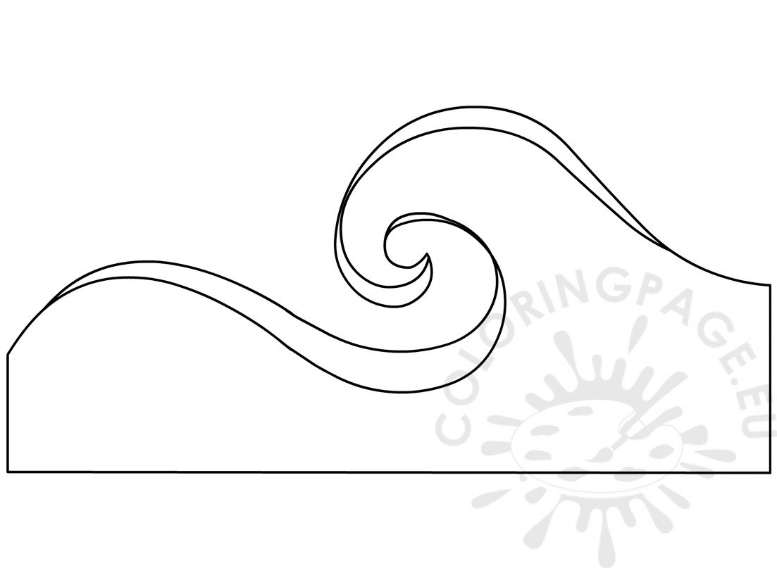 printable ocean waves pattern  u2013 coloring page