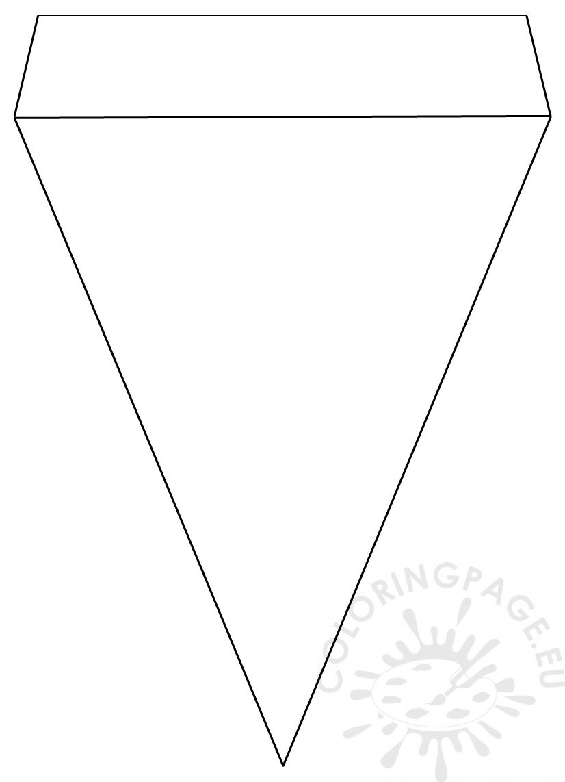 Printable Pennant banner template – Coloring Page