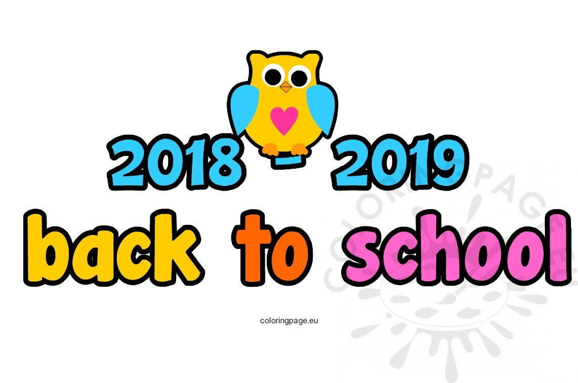 2018-2019 Back to school clipart