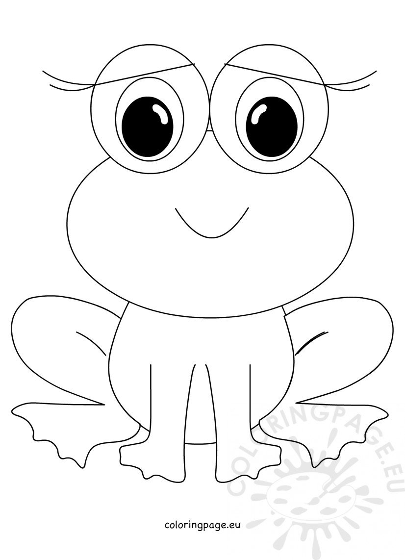 Animal Coloring Page Cute Frog Coloring Page