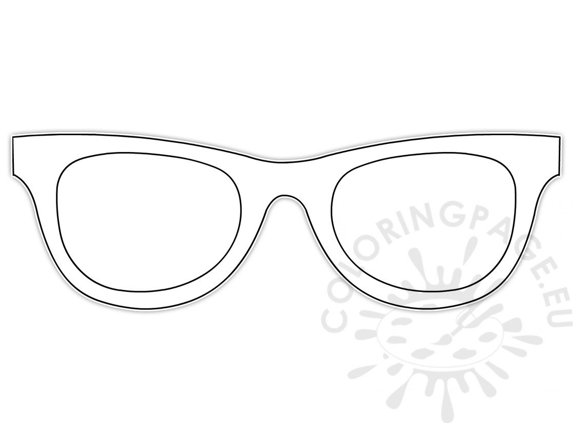 Looking Back On Summer Sunglasses Template Coloring Page
