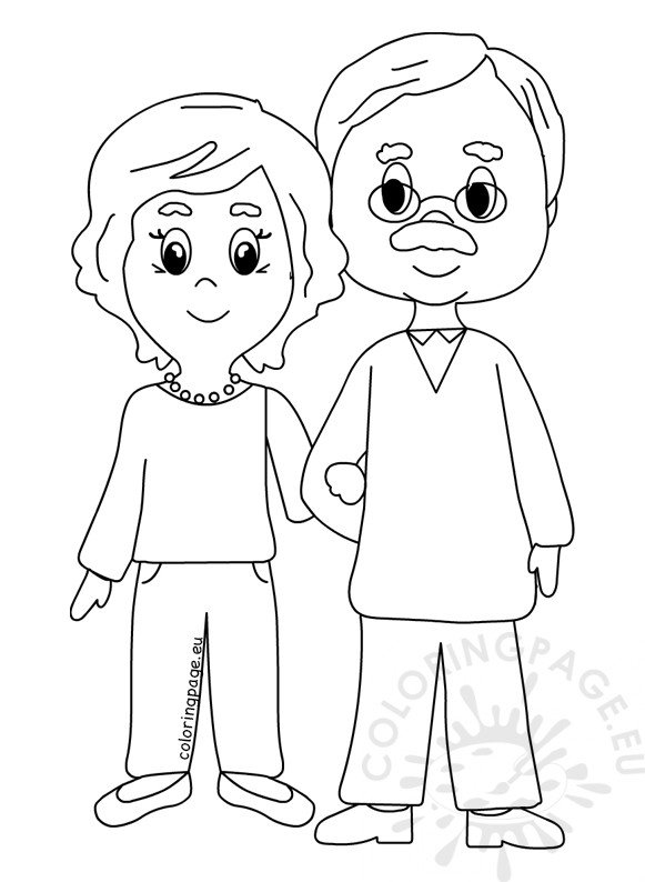 Happy Grandparents Day 2018 Design Coloring Page