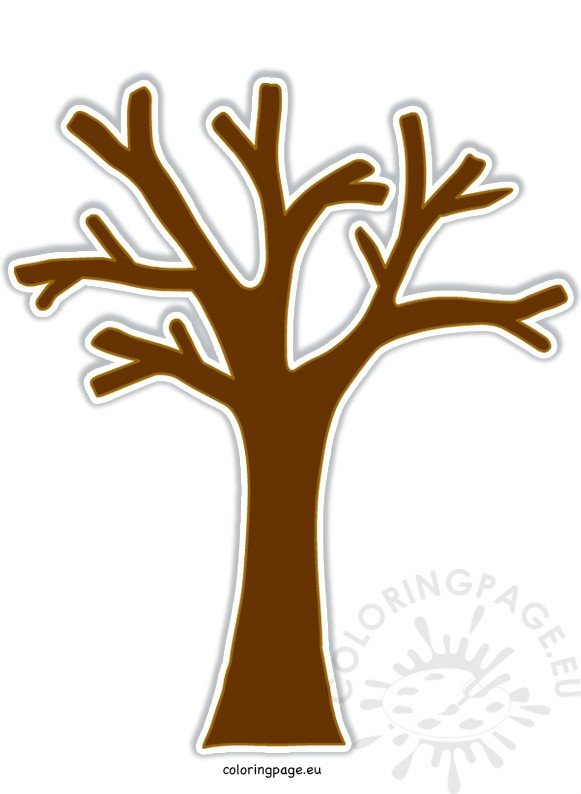Brown Tree Without Leaves image – Coloring Page