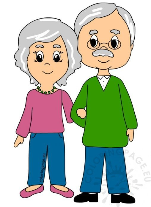 Grandparent's Day - Coloring Page