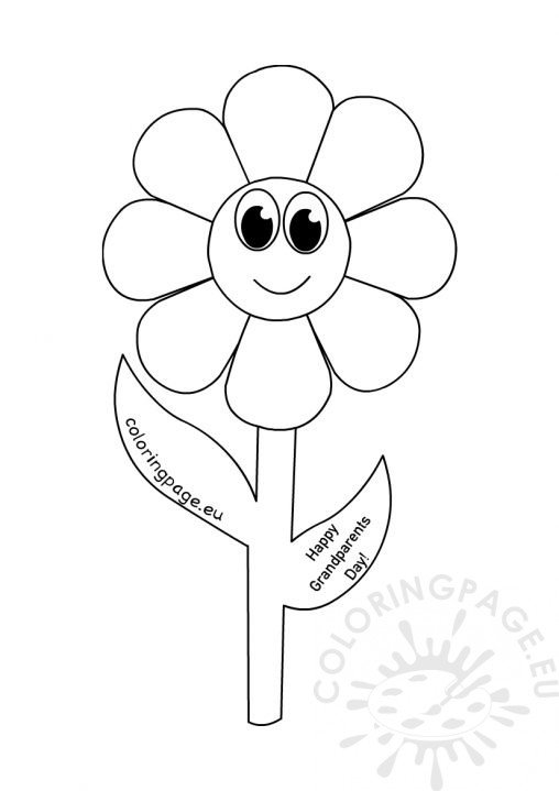 Grandparent S Day Coloring Page