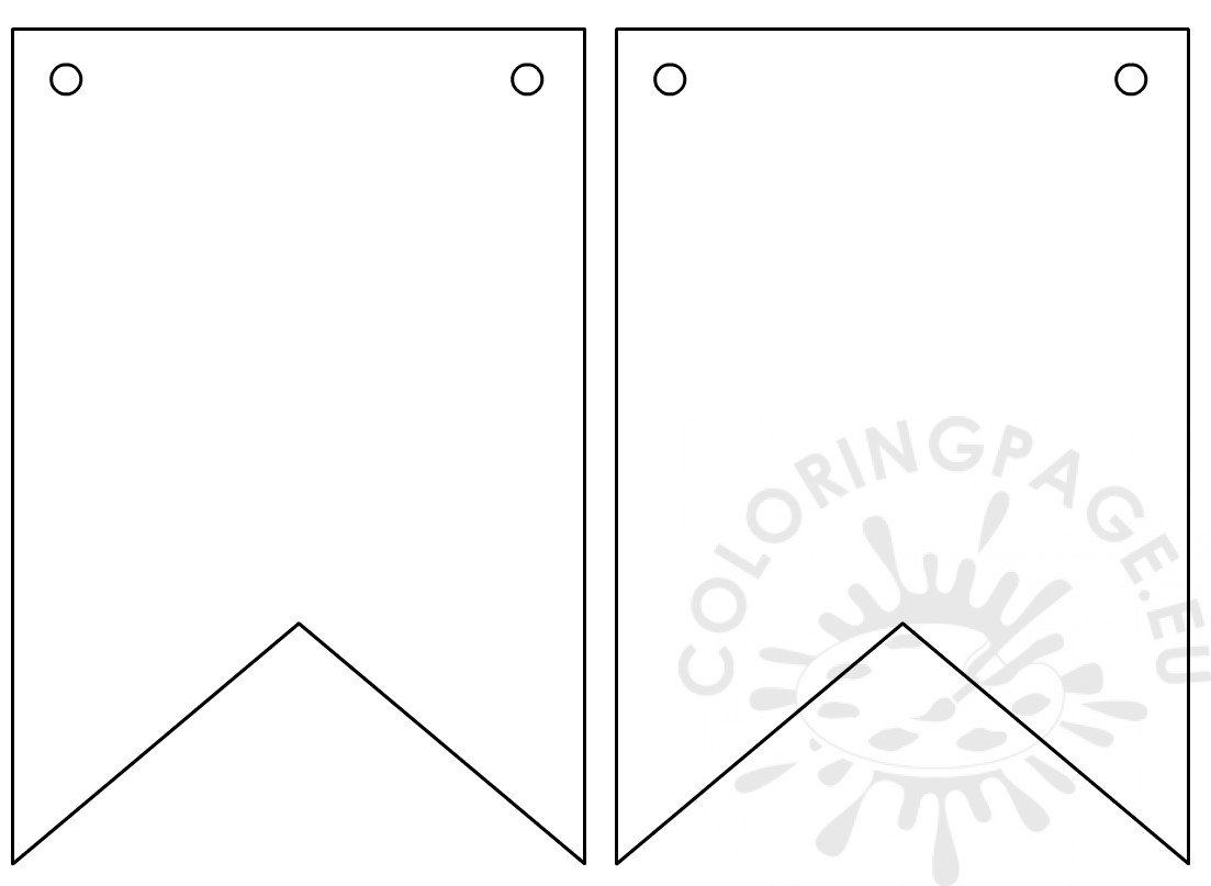 Printable Pennant Flag Shape