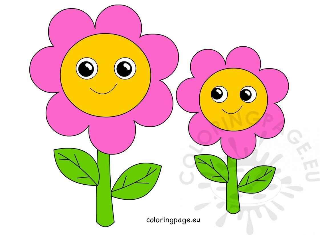 Cute Pink flowers Mother's day clipart