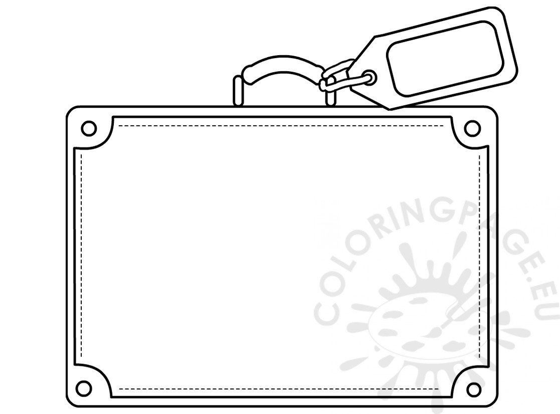 Suitcase template coloring sheets
