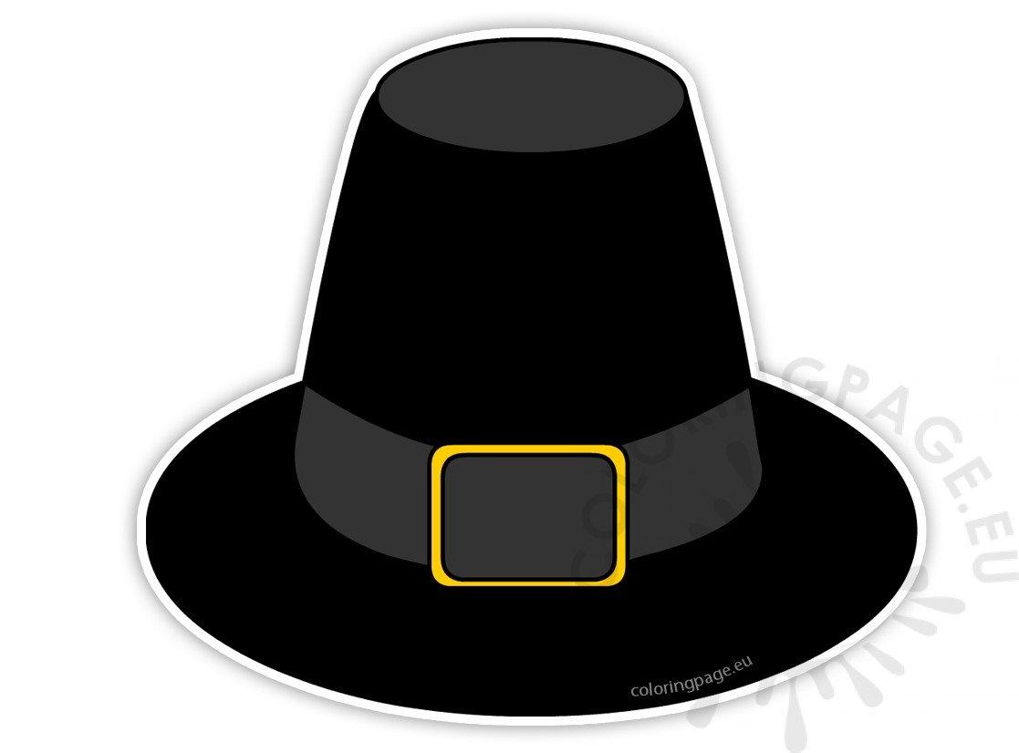 Thanksgiving Pilgrim Hat printable - Coloring Page
