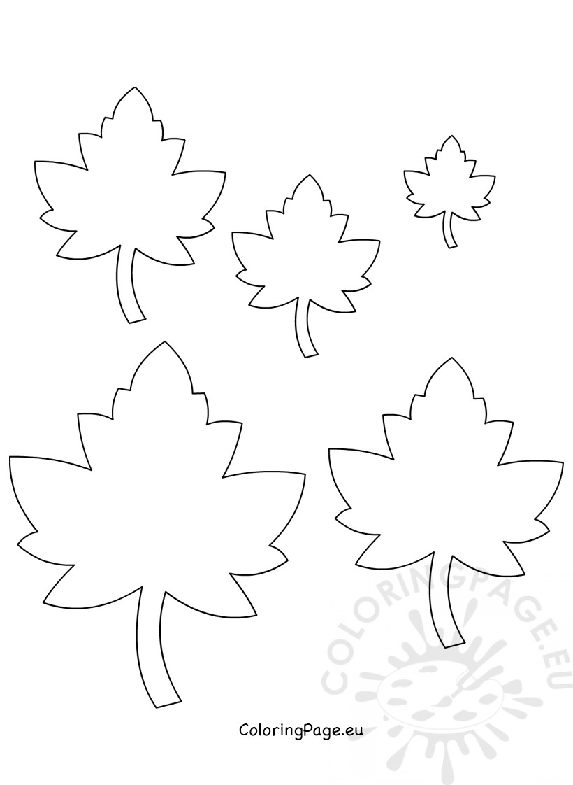 Printable Autumn Leaf Size - Coloring Page