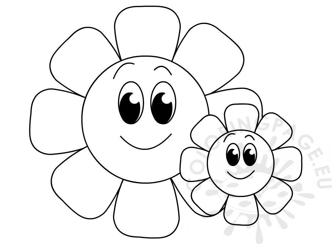 Big And Small Flowers Printable